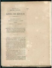 CAMERA DEI DEPUTATI 1867 SPESA STRAORDINARIA BILANCIO STAMPA CARTELLE PORTATORE