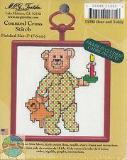 Cross Stitch Mini Kit ~ M.C.G. Bear and Teddy w/Frame #15385