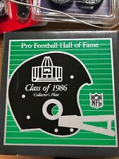 Pro Football Hall Of Fame Class Of 1986 Collector'S Plate