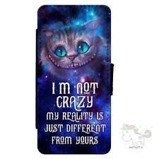 Alice in Wonderland Cheshire Cat iPhone Flip Case Wallet Mobile Phone Cover AP05