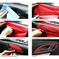 3D SUV Car Accessories Interior Panel Red Carbon Fiber Vinyl Wrap Sticker Decals