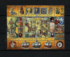 Yugoslavia 1992 europa cept boats - ships souvenir Sheet