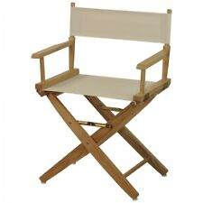 Wooden Directors Chair Portable Folding Wood White Canvas Kitchen Outdoor  Yard