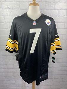 NWT Pittsburgh Steelers NFL Ben Roethlisberger Black On Field Nike Jersey XL