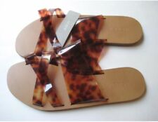 NWT ~ J CREW Jelly Criss-Cross Sandals~ LEOPARD BROWN ~ Size 7 ~ MADE IN ITALY