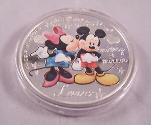 2015 Crazy in Love $2 Coin Micky & Minnie Mouse Disney 1oz Silver Uncirculated