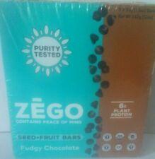 ZEGO Seed & Fruit Bars Fudgy Chocolate 9 Bars 12 Ounce Box 1/2021