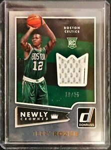 2016-17 Panini Donruss Newly Crowned #9 RC 10/25 Terry Rozier Jersey Autograph