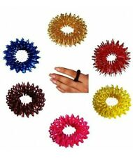 Pack Of 10 Acupressure Sujok (Su-Jok) Pain Therapy Finger Massager Rings