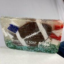 Primal Elements Homemade Soap, Football End Cut Slice Musk Sandalwood 5.8 oz New
