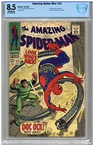 Amazing Spider-Man # 53  CBCS  8.5   VF+   Off wht pgs  10/67  Dr. Octopus cover