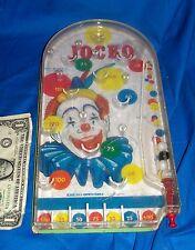 Old Toy Pinball Game Jocko the Clown Wolverine Kids Play Vintage Tabletop Marble