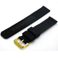 Calidad Pesada Correas Reloj strap/band 20 Mm Negro