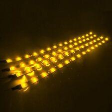 """4x 12"""" Flexible Waterproof 15 LED Strip DRL Light Car Motor Lamp Tape 12V"""
