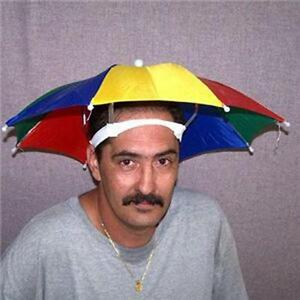 new  STAY COOL COLORED UMBRELLA HAT new womens mens headwear cap umbrellas