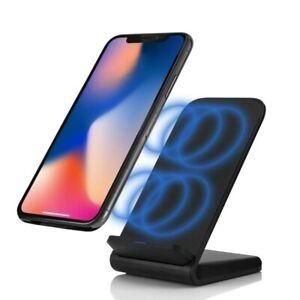 10W Wireless Qi Induktionsladegerät Ladestation Induktive Charger iPhone Samsung