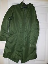 FRED PERRY unlined  rich olive FISHTAIL PARKA  COAT JACKET SIZE 10 new mod