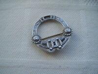 Vintage sterling silver Scottish brooch pin Hallmarked Edinburgh Maker A.L.
