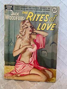 The Rites Of Love (City Limits) Jack Woodford 1950 Avon Bedside Novel 1 digest
