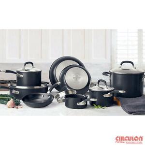 Circulon Premier Professional Hard Anodized 13 Piece Non Stick Pan Set Black NEW