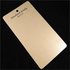 10 Etiquettes Cartes emballage avec pochette pour Colliers + Boucle d'oreilles