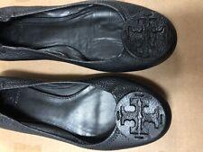tory burch Women Shoes Learher Black Size 9