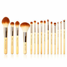 Jessup New 15pcs Bamboo Makeup Brush Set Cosmetic Brushes Kit Make up Tools T142