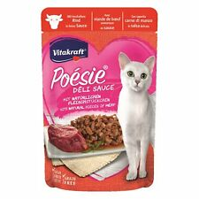 VITAKRAFT Cat Food Poesie Delisauce Beef 23x 85g Bag Pouches Sauce