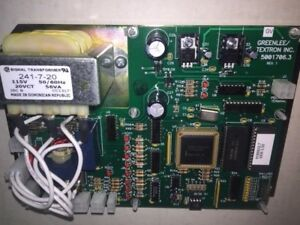 GREENLEE 855 I/O INPUT OUTPUT  COMPUTER CONTROL BOARD REBUILD CODE# 5001706.3