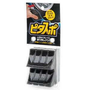 SOFT99 Pitasupo Tire Wax Sponge Reifenschwamm Auftragschwamm Reifenglanz 2er Set
