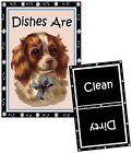 DOG DISHWASHER MAGNET Cavalier King Charles Spaniel #1 - Clean/Dirty *Ship FREE