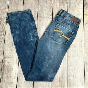Justice Acid Wash High Waist Jegging Boot Jeans Girls Size 16R
