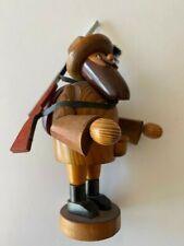 """Vintage Erzgebirge Hunter Incense Burner Figure Smoker; 7"""" Tall"""