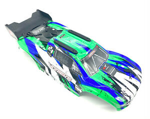 Arrma VORTEKS 4x4 3s BLX - Body Shell (GREEN/Black painted decalled ARA4305V3