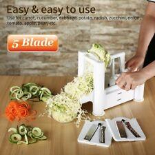 5-Blade Vegetable Spiral Slicer Cutter Mandoline Chopper Home Kitchen Tools WW