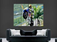 VALENTINO ROSSI SUPERBIKES CHAMPION WHEELIE BIKE ART PICTURE PRINT LARGE  HUGE