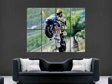 Valentino Rossi Superbikes campeón de impresión de fotos de arte Wheelie Bicicleta Grande Enorme