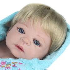 """Full Body Silicone Reborn Boy Dolls Realistic Newborn Baby 22"""" Lifelike Toddler"""