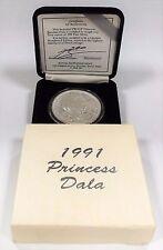 Royal Hawaiian Mint 1991 Princess Dala 1 Troy Oz 999 Fine Silver*FIRSTDAY ISSUE*