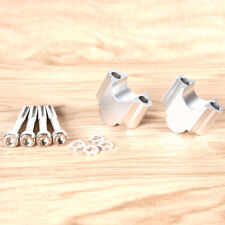 """1Pair Silver Handlebar Riser Kit 7/8"""" Bars 30mm For Universal Motorcycle ATV"""