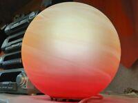 WOFI-Leuchten Kugel Opalglas Rund Tischlampe Lampenwelt, E27 Wohnraum, VINTAGE