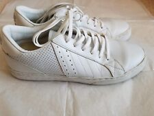 Clae men's white leather Diego sneakers shoes EUC size 8