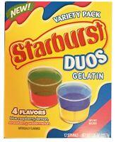 Starburst Duos Gelatin Dessert Mix 7.85 Ounce! 4 Flavors, Blue Raspberry, Lem...