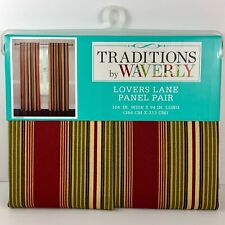 """Traditions by Waverly Window Curtain Panel Pair Lovers Lane Crimson 104"""" x 84"""""""