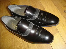 BALLY FRANCE MATIGNON Chaussures cuir noir vernis taille 7= 41  Ref : 12