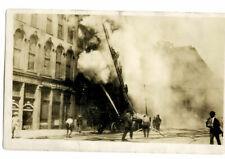 RPPC urban building fire ca. 1915