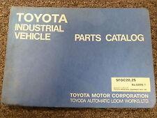 Toyota Models 5FGC20 & 5FGC25 Forklift Lift Truck Parts Catalog Manual Book