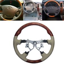 Tan Leather Steering Wheel for 03-07 Toyota Lexus LX470 GX470 Land Cruiser 100