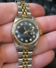 Vintage Rolex Datejust. 69173 Blue Diamond Dial 26mm.  Authenticity Certificate