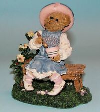 """Boyds Bears resin """"Lil' Miss Muffet..What's in the Bowl?"""" # 2455 NIB 2001 ret"""